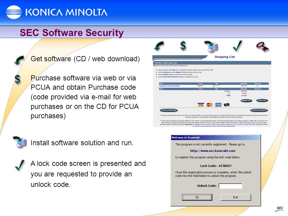 SEC Software Security Get software (CD / web download)