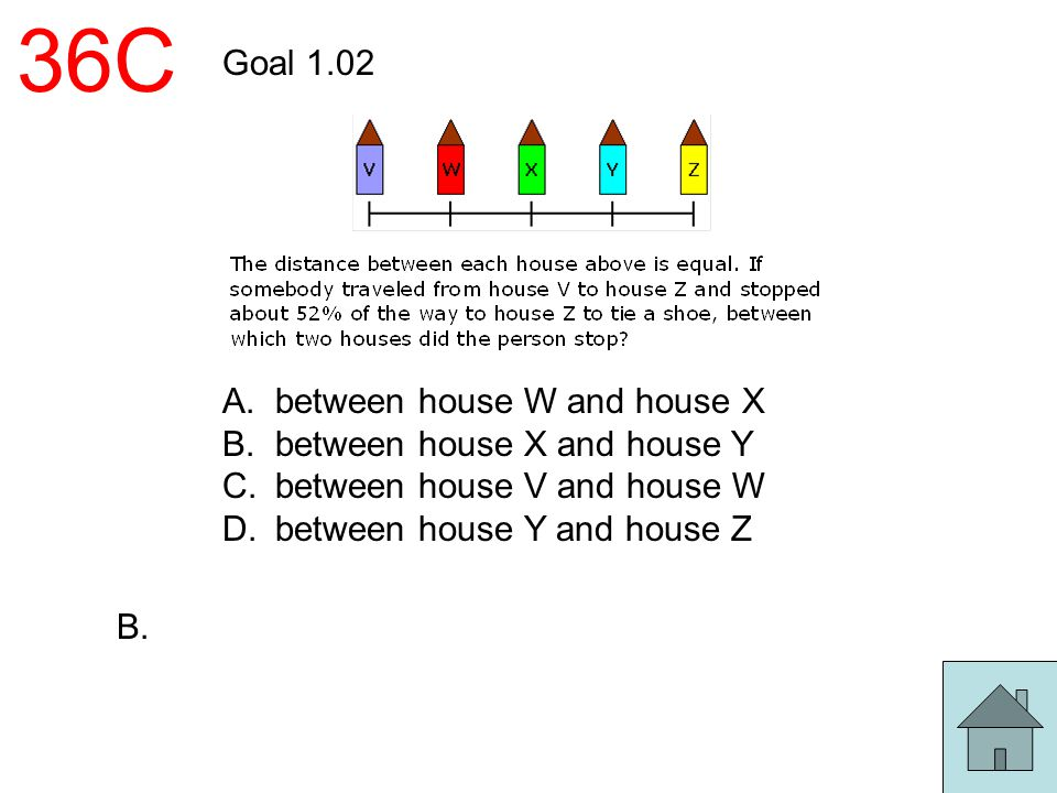 36C Goal 1.02 between house W and house X between house X and house Y