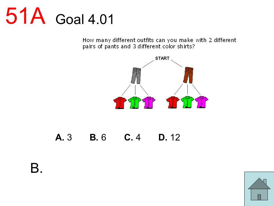 51A Goal 4.01 A. 3 B. 6 C. 4 D. 12 B.