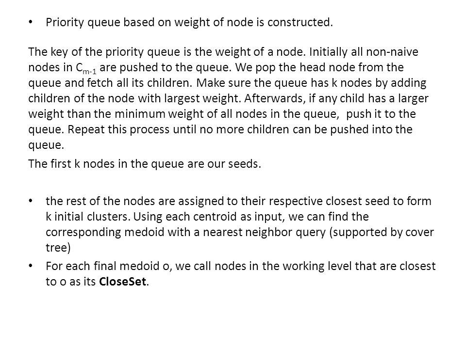 Priority queue based on weight of node is constructed.