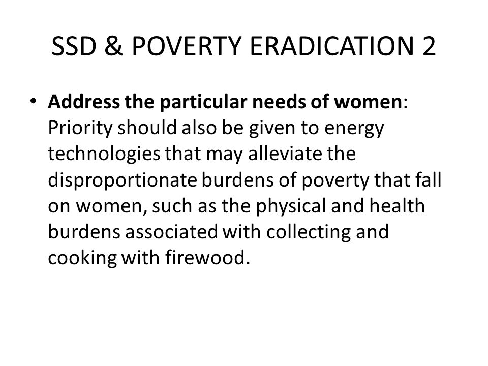 SSD & POVERTY ERADICATION 2