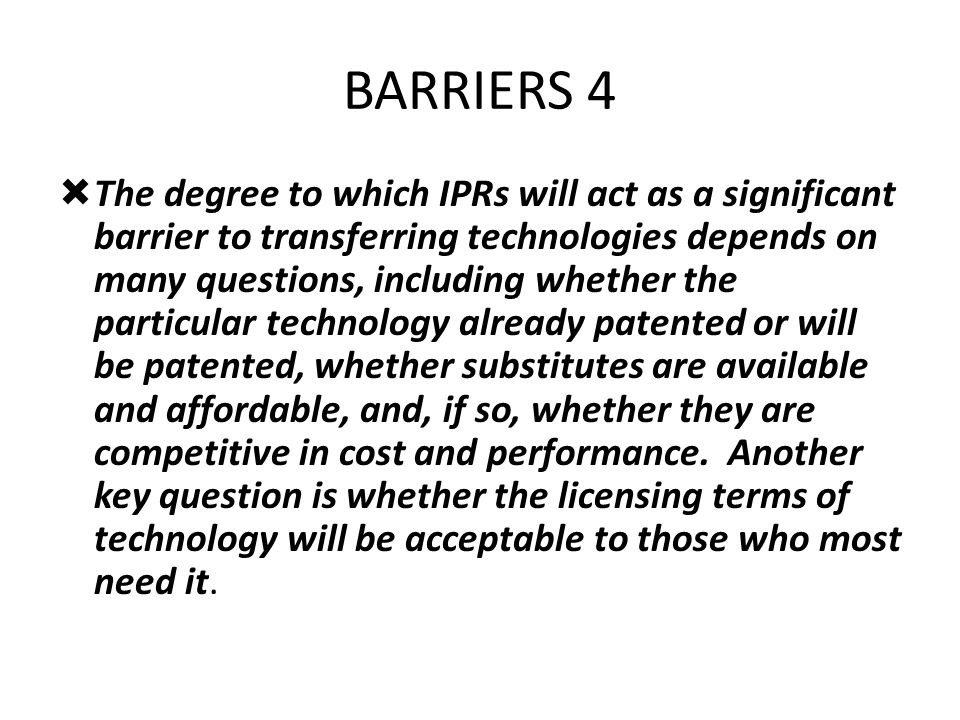 BARRIERS 4