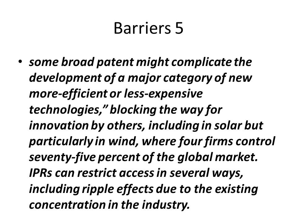Barriers 5