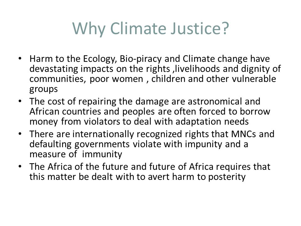 Why Climate Justice
