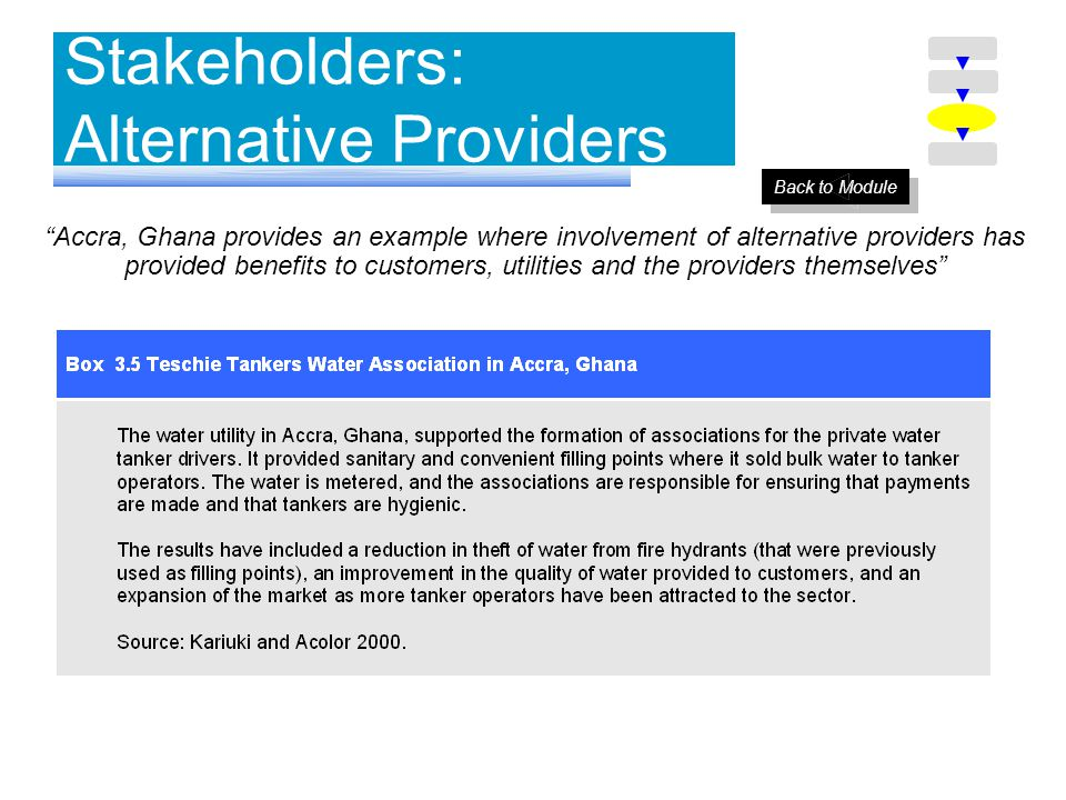 Stakeholders: Alternative Providers