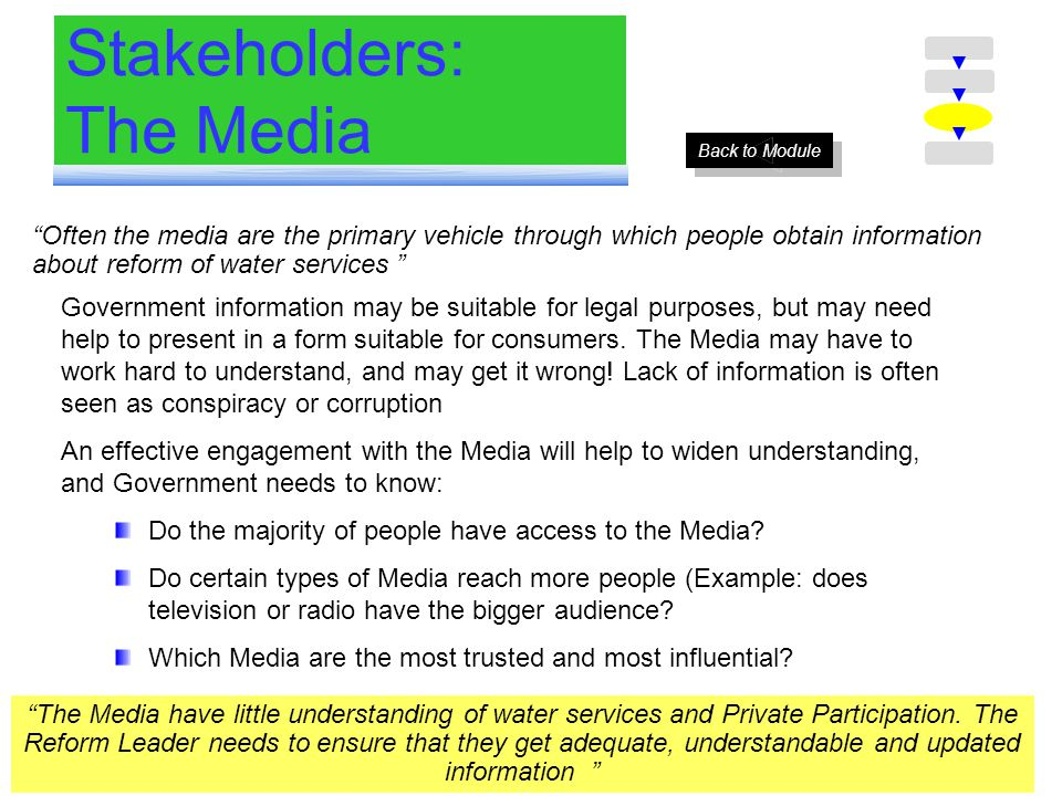 Stakeholders: The Media