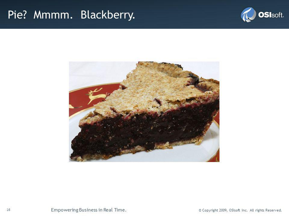 Pie Mmmm. Blackberry.