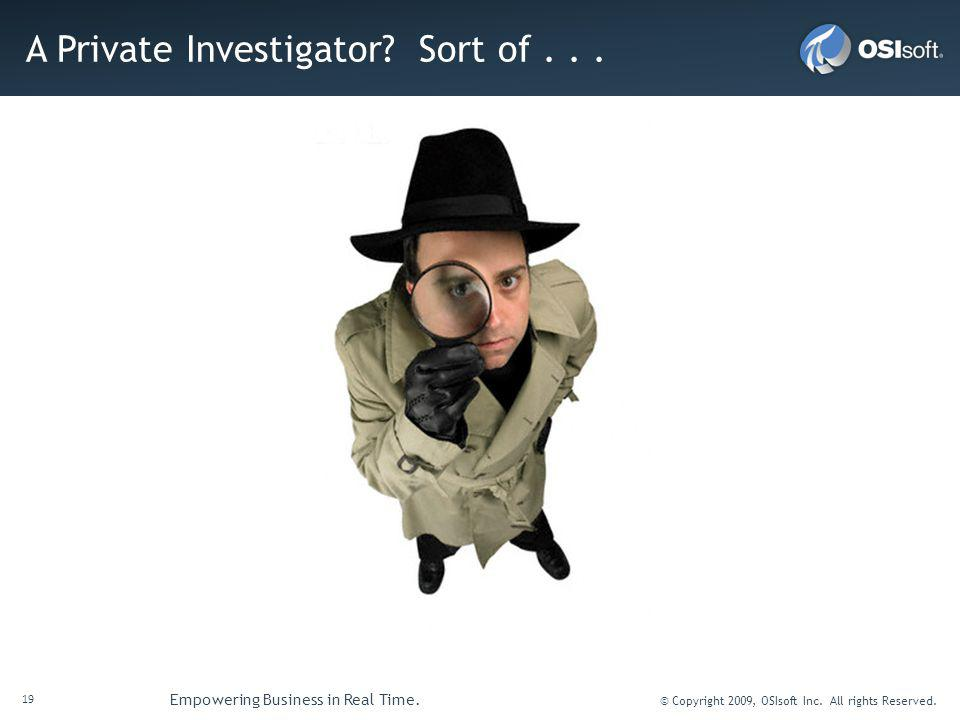 A Private Investigator Sort of . . .