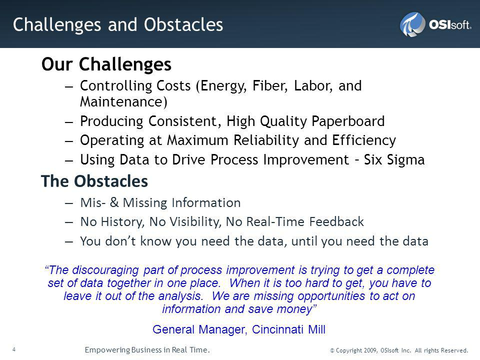 Challenges and Obstacles