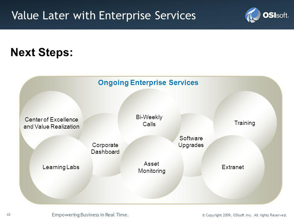 Value Later with Enterprise Services