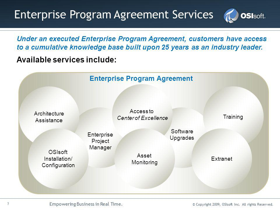 Enterprise Program Agreement Services