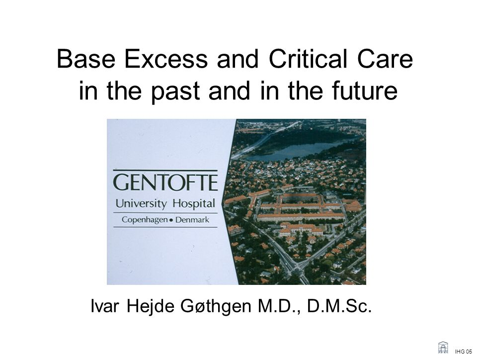 Base Excess and Critical Care in the past and in the future