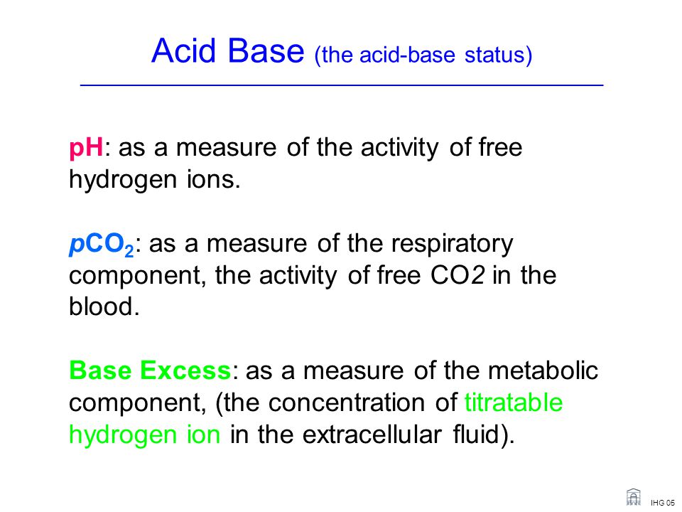 Acid Base (the acid-base status) _______________________________________________________________________