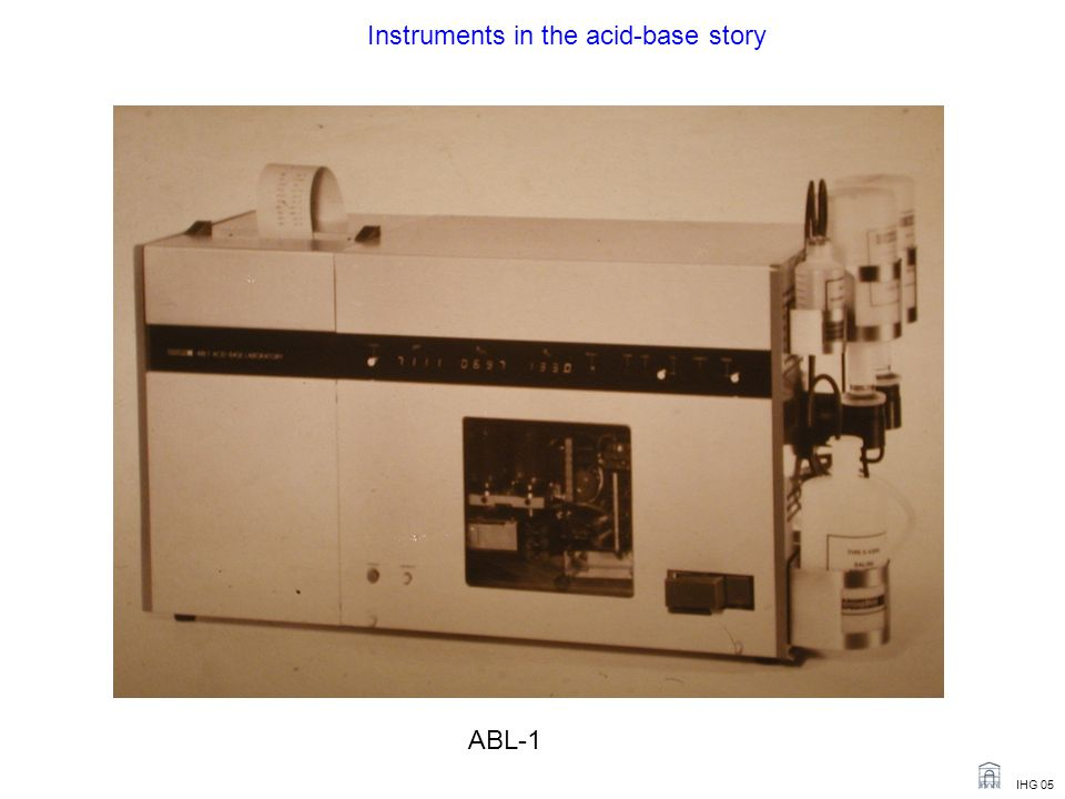 Instruments in the acid-base story
