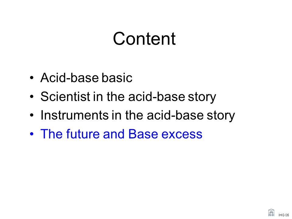 Content Acid-base basic Scientist in the acid-base story