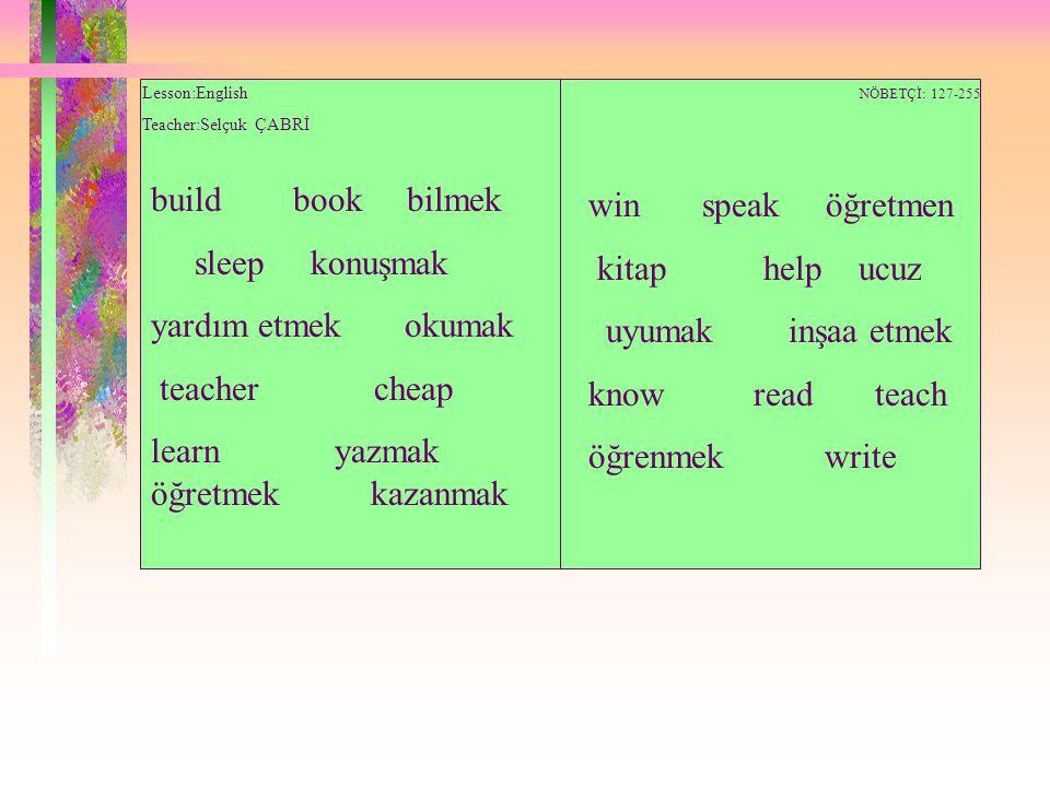 learn yazmak öğretmek kazanmak win speak öğretmen kitap help ucuz