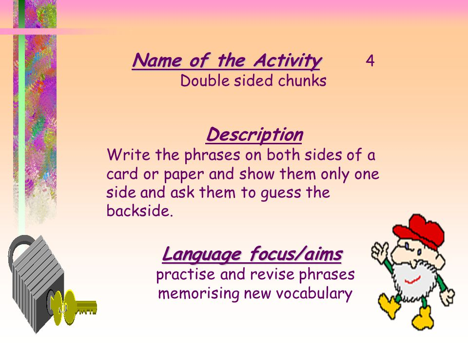 practise and revise phrases memorising new vocabulary