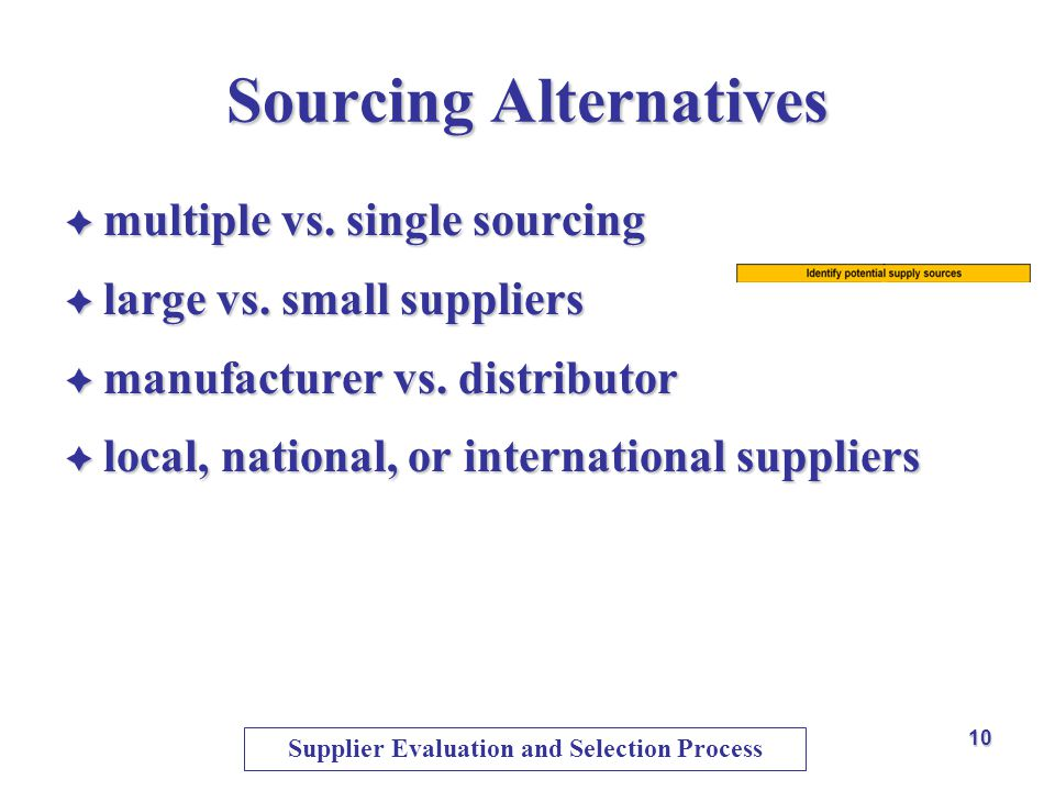 Sourcing Alternatives