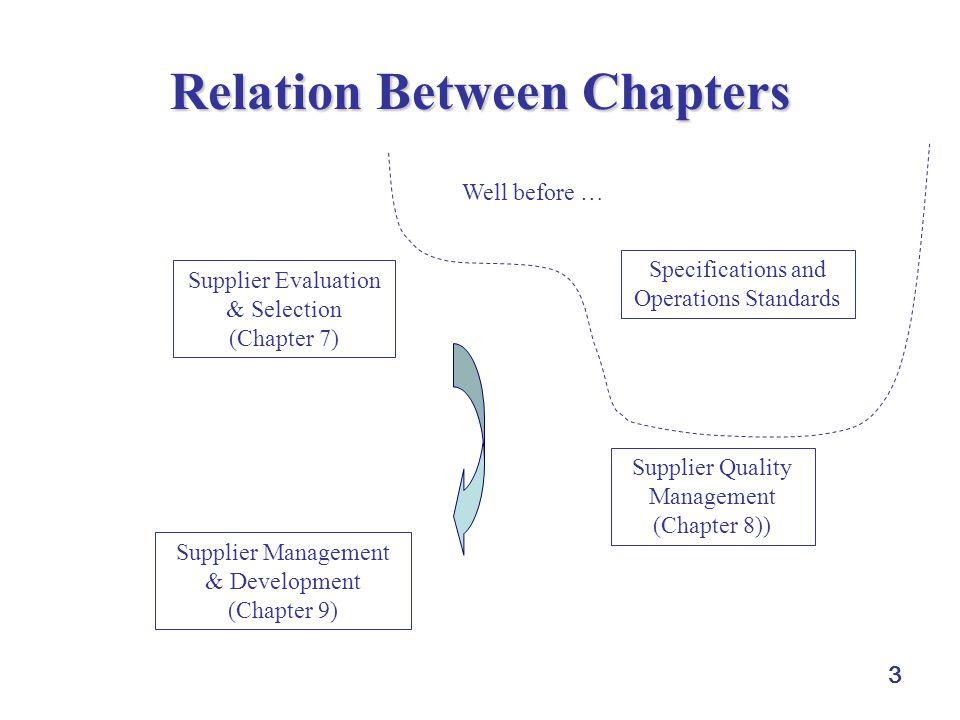 Relation Between Chapters