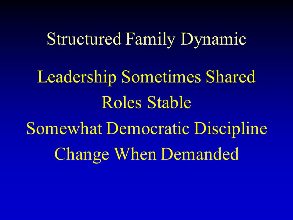 Structured Family Dynamic