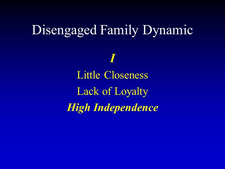 Disengaged Family Dynamic