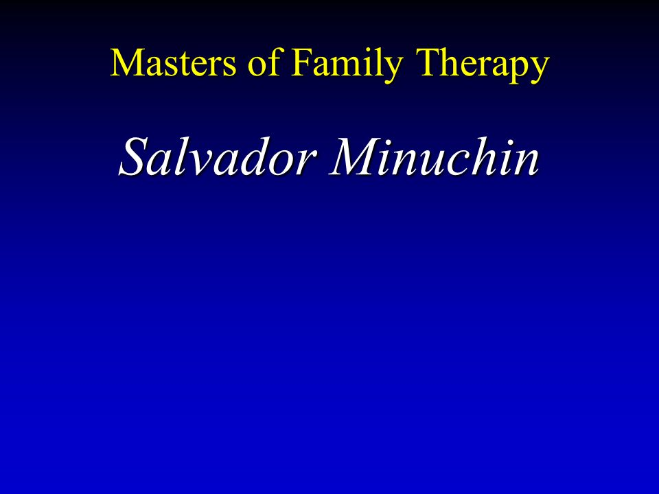 Masters of Family Therapy