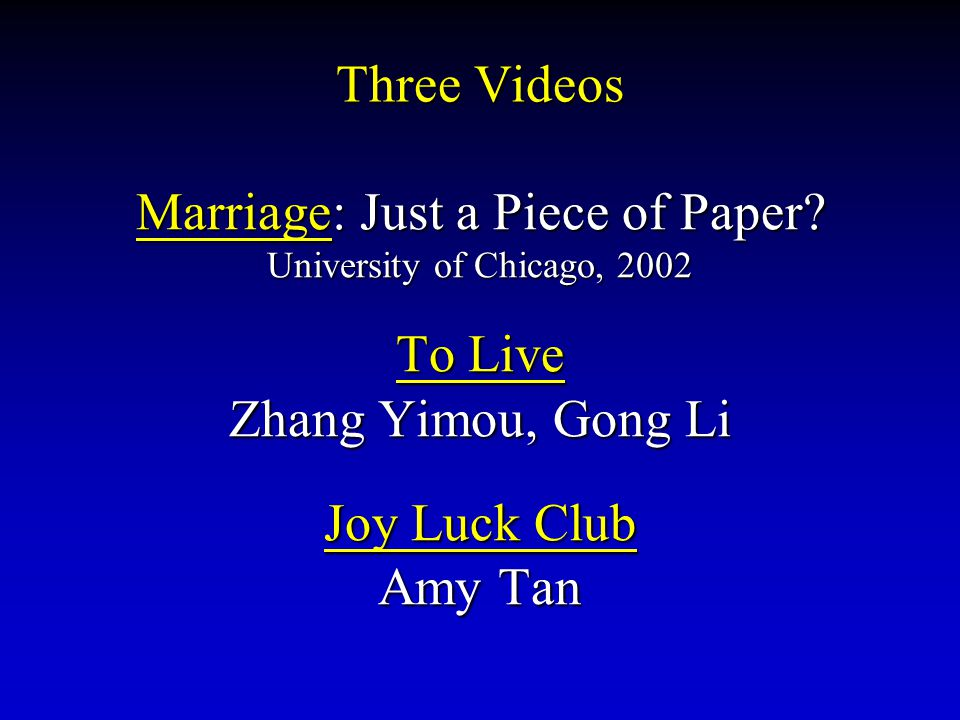 Marriage: Just a Piece of Paper