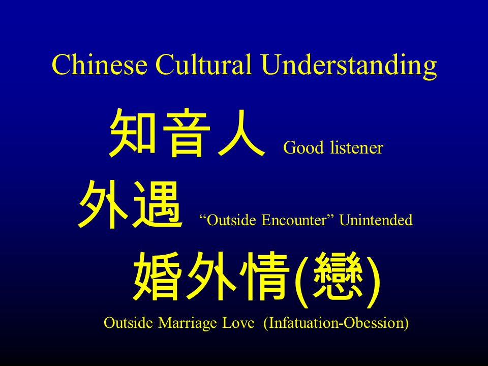 Chinese Cultural Understanding