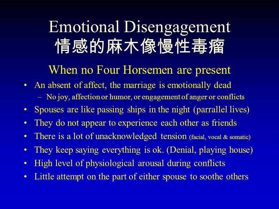 Emotional Disengagement 情感的麻木像慢性毒瘤