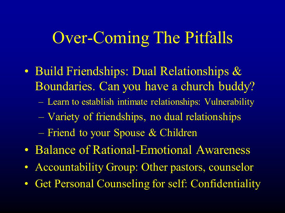 Over-Coming The Pitfalls