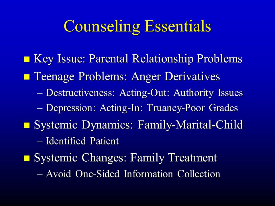 Counseling Essentials