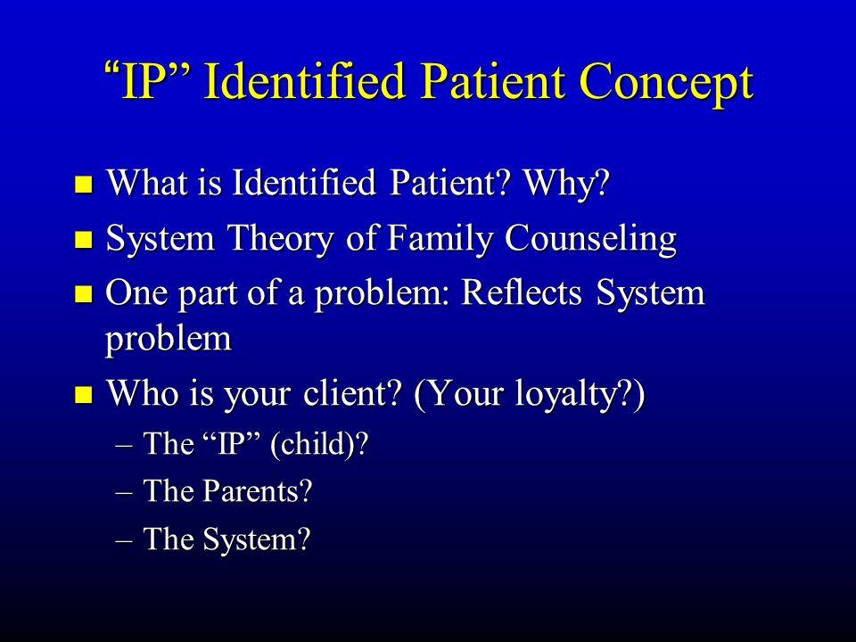 IP Identified Patient Concept