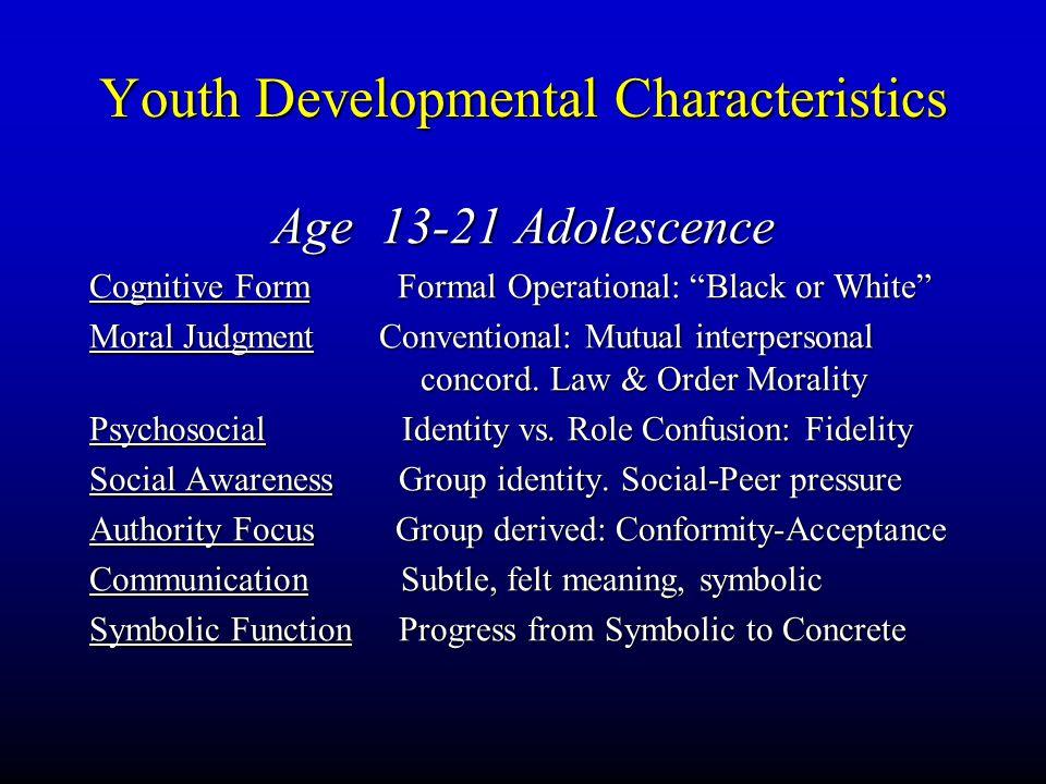 Youth Developmental Characteristics
