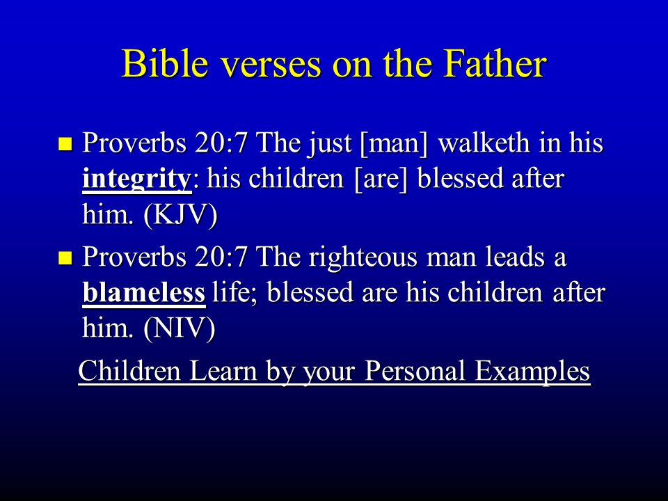 Bible verses on the Father