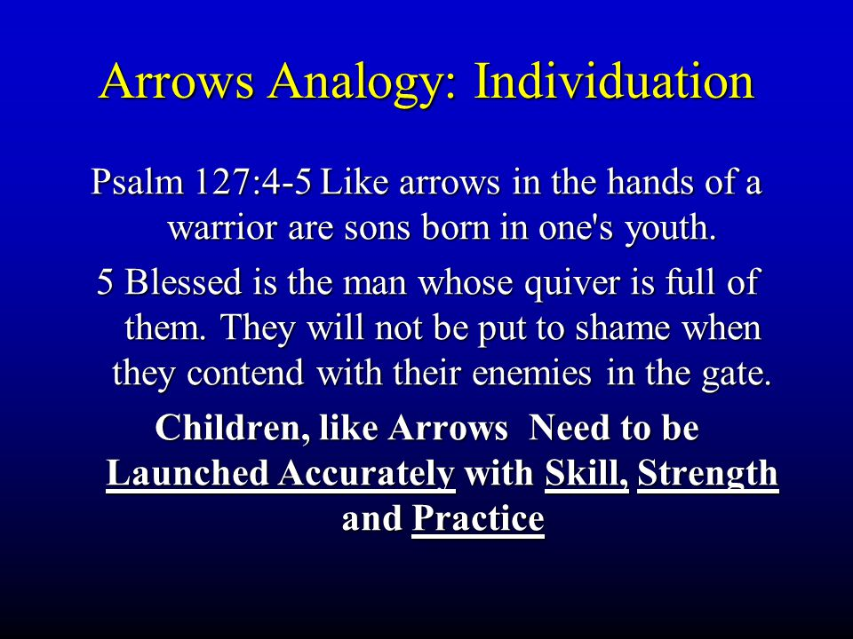 Arrows Analogy: Individuation