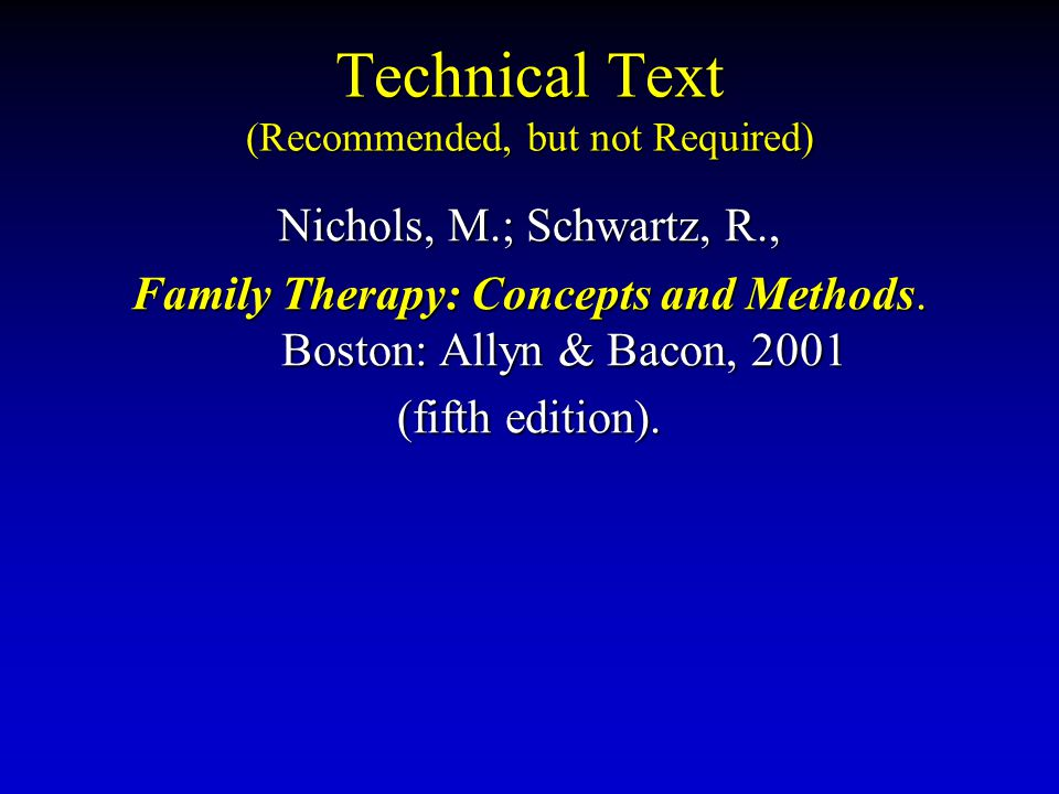 Technical Text (Recommended, but not Required)