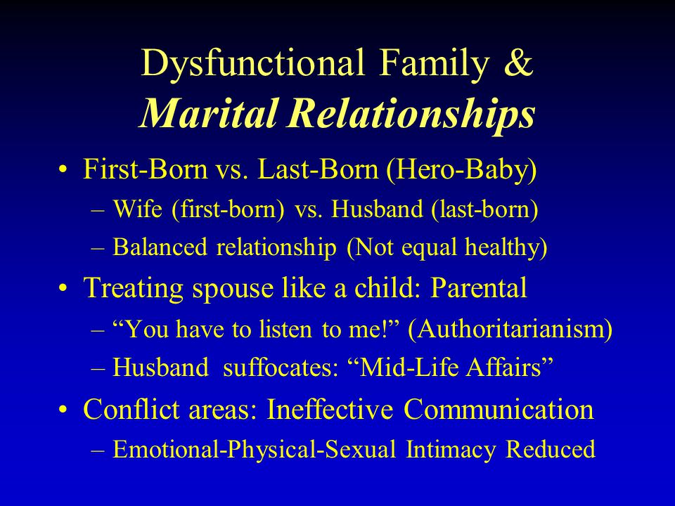 Dating last born child adult