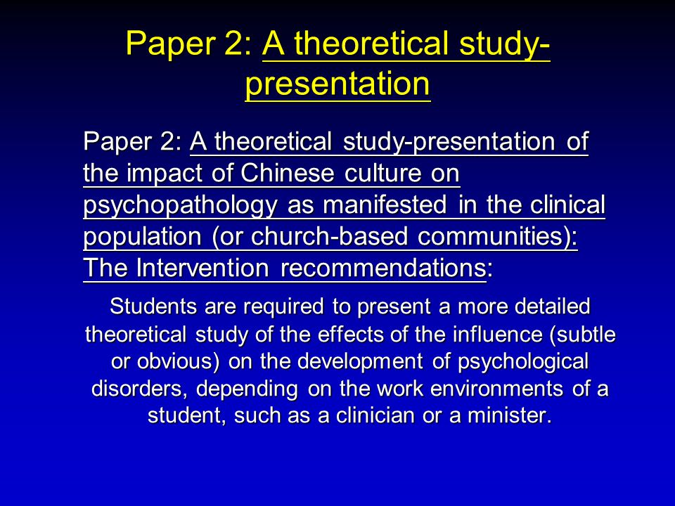 Paper 2: A theoretical study-presentation