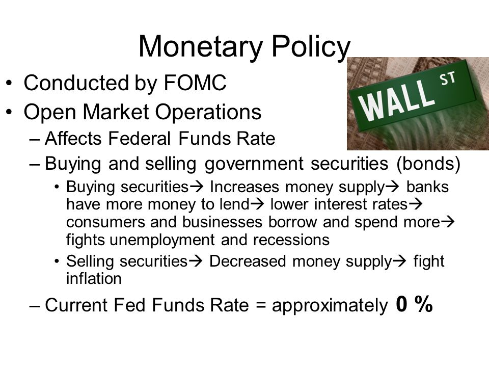 Monetary Policy Conducted by FOMC Open Market Operations