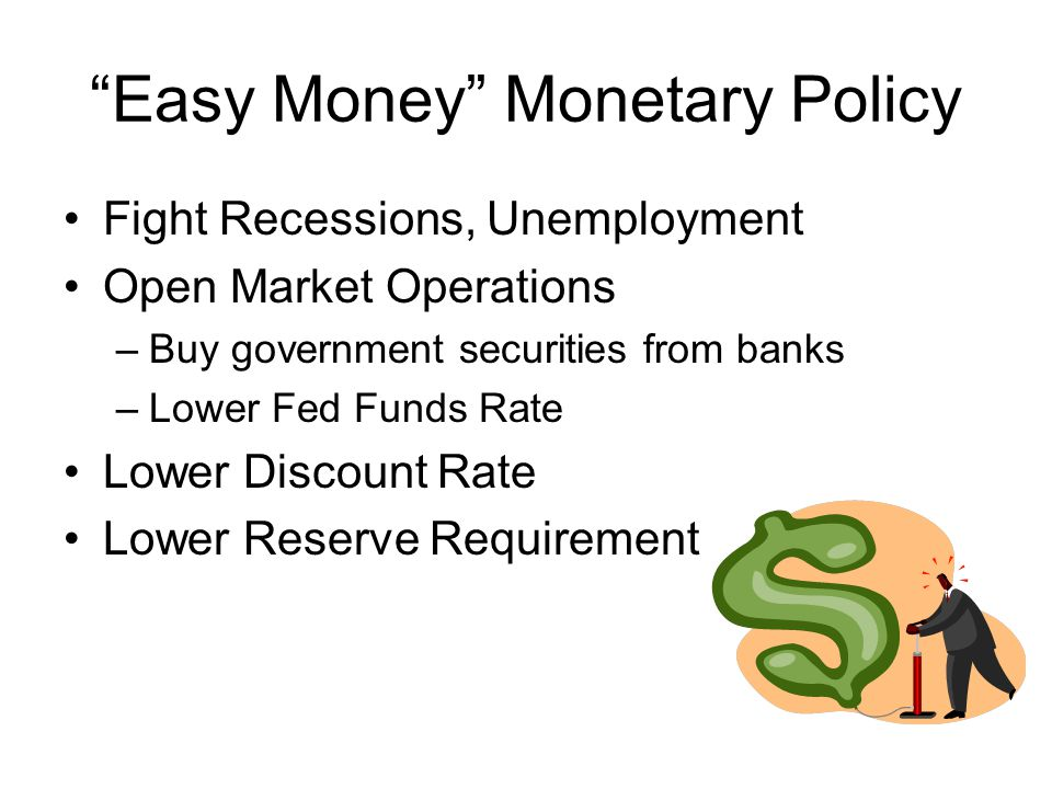 Easy Money Monetary Policy