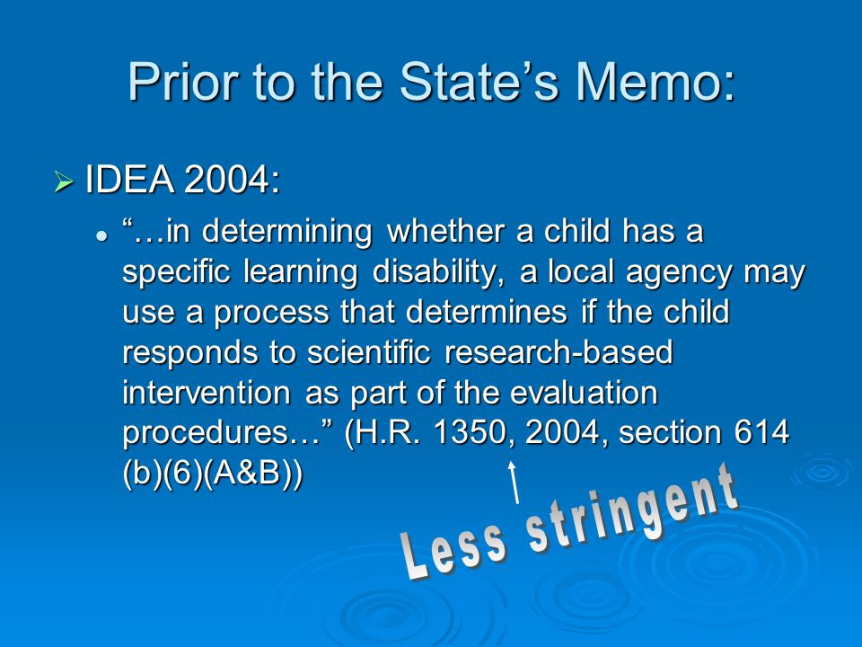 Prior to the State's Memo: