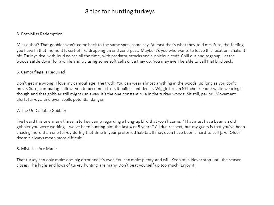 8 tips for hunting turkeys