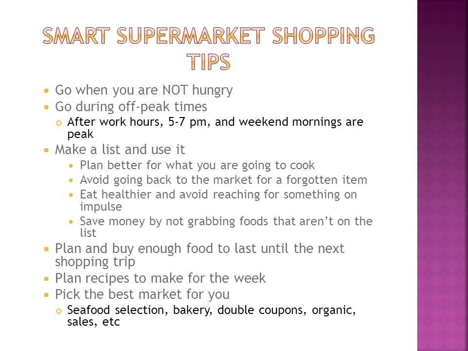 Smart supermarket shopping tips