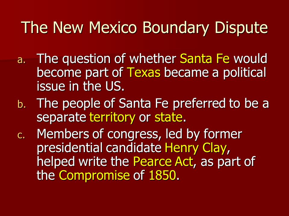 The New Mexico Boundary Dispute