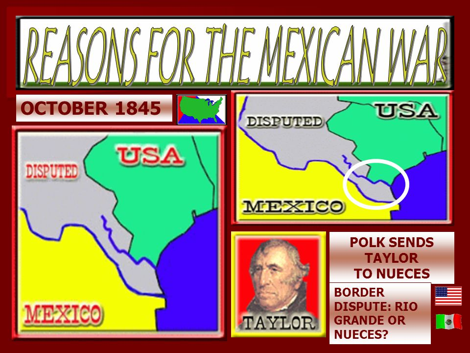REASONS FOR THE MEXICAN WAR