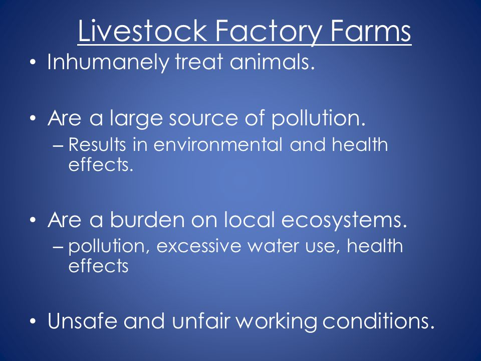 Livestock Factory Farms