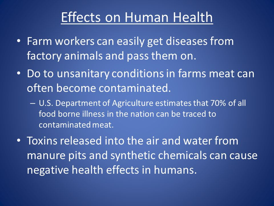 Effects on Human Health