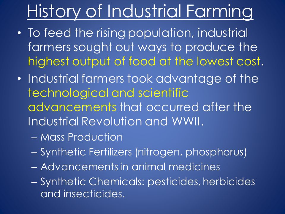History of Industrial Farming