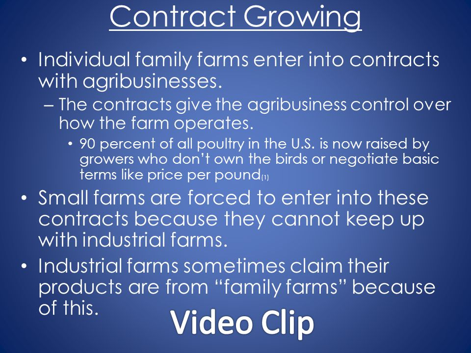 Video Clip Contract Growing