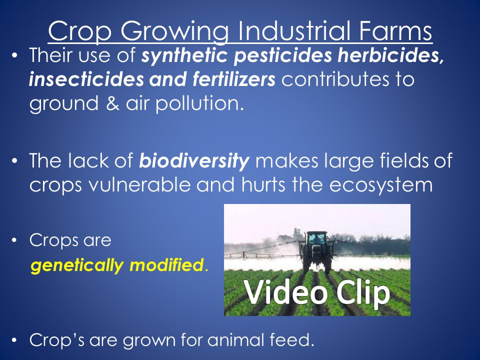 Crop Growing Industrial Farms